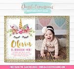 Unicorn Birthday Invitation 11 - FREE thank you card included