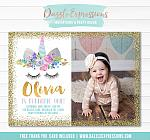Unicorn Birthday Invitation 13 - FREE thank you card included