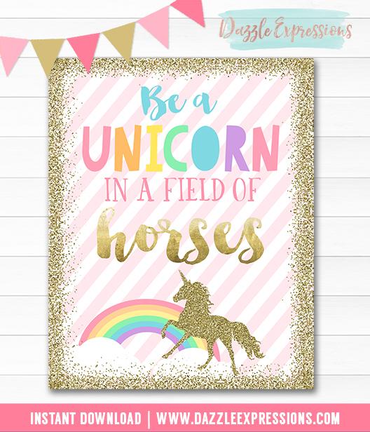 Unicorn Wall Art - Instant Download