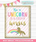 Unicorn Wall Art - Instant Download