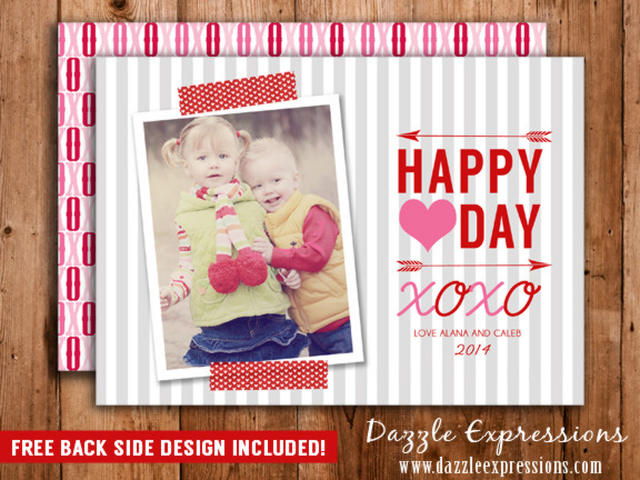 Valentines Day Photo Card 1 - FREE back side