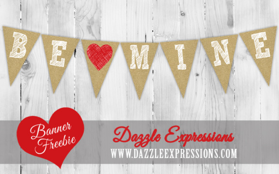 Be Mine Printable Banner