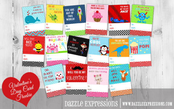 Kids Valentine's Day Cards - Printable