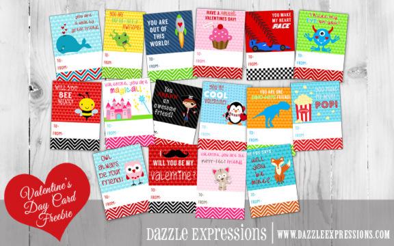 Kids Valentine's Day Cards - Printable