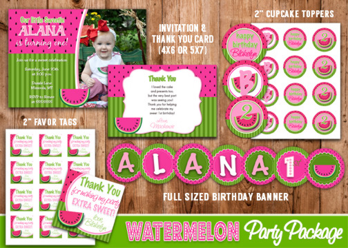 Watermelon Complete Party Package - Printable