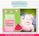 Watermelon Invitation 5 - FREE thank you card