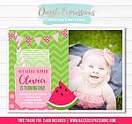 Watermelon Invitation 5 - FREE thank you card