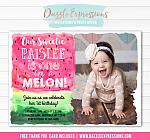 Watermelon Watercolor Invitation 2 - FREE thank you card