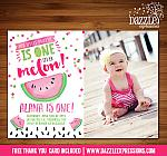 Watermelon Invitation 6 - FREE thank you card