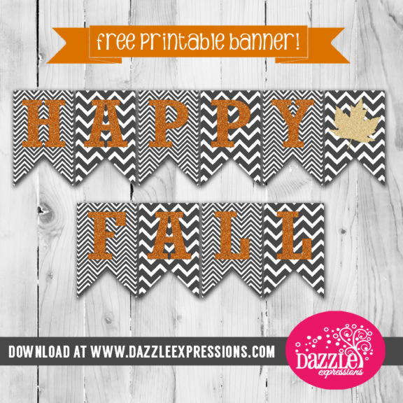 Happy Fall - Chevron Glam