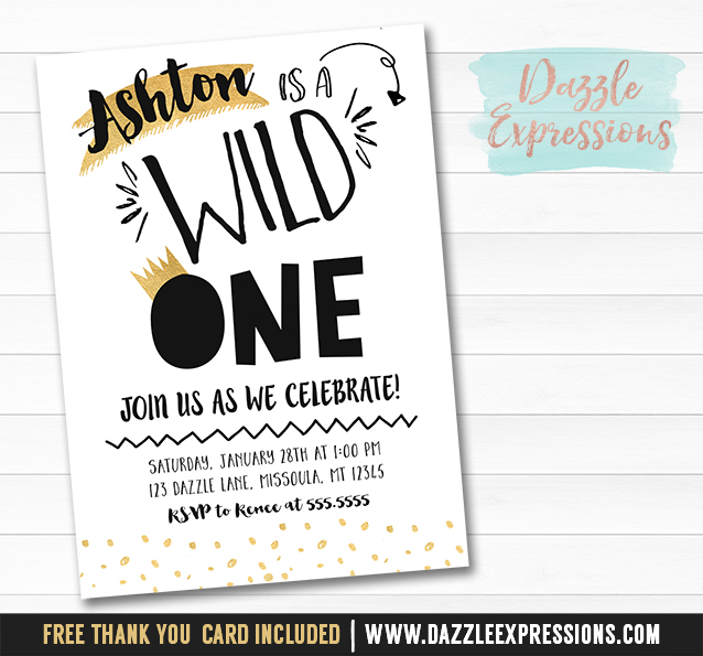 Wild One Invitation 1