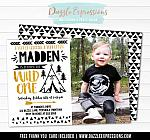 Wild One Invitation 11 - FREE thank you card