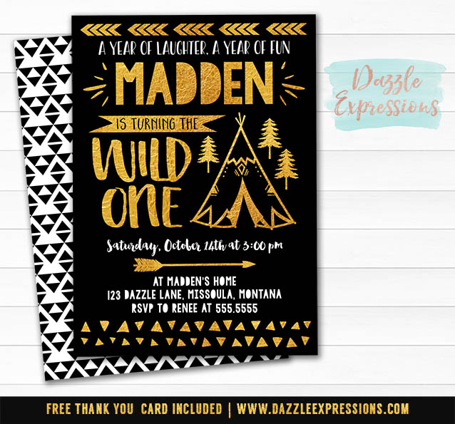 Wild One Invitation 12