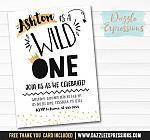Wild One Invitation 1 - FREE thank you card