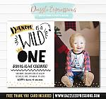 Wild One Invitation 2 - FREE thank you card