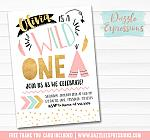 Wild One Invitation 4 - FREE thank you card