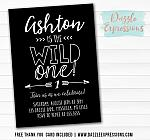 Wild One Invitation 6 - FREE thank you card