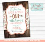 Wild One Invitation 8 - FREE thank you card