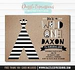 Wild One Invitation 5 - FREE thank you card