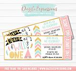 Wild One Ticket Invitation 1 - FREE thank you card