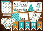 Wild One - Tribal Woodland Complete Party Package 1 - Printable
