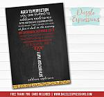 Wine Chalkboard Invitation 1 - FREE thank you card