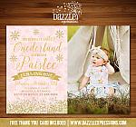 Winter Glitter Invitation 6 - FREE thank you card included