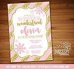 Winter Glitter Invitation 7 - FREE thank you card included