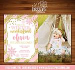 Winter Glitter Invitation 8 - FREE thank you card included