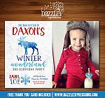 Winter Moose Invitation 1 - FREE thank you card