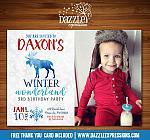 Winter Moose Invitation 1 - FREE thank you card