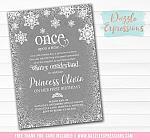 Winter Princess Story Invitation 1 - FREE thank you card