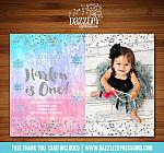 Winter Glitter Invitation 9 - FREE thank you card