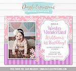 Winter Wonderland Birthday Invitation 6 - FREE thank you card included