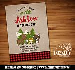 Plaid Woodland Birthday Invitation 1 - FREE thank you card
