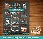 Printable Tribal Woodland Chalkboard Poster 1