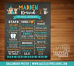 Printable Tribal Woodland Chalkboard Poster 2