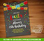 Fiesta Chalkboard Invitation 3 - FREE thank you card include