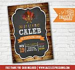 Turkey Rustic Chalkboard Invitation 1 - FREE thank you card included